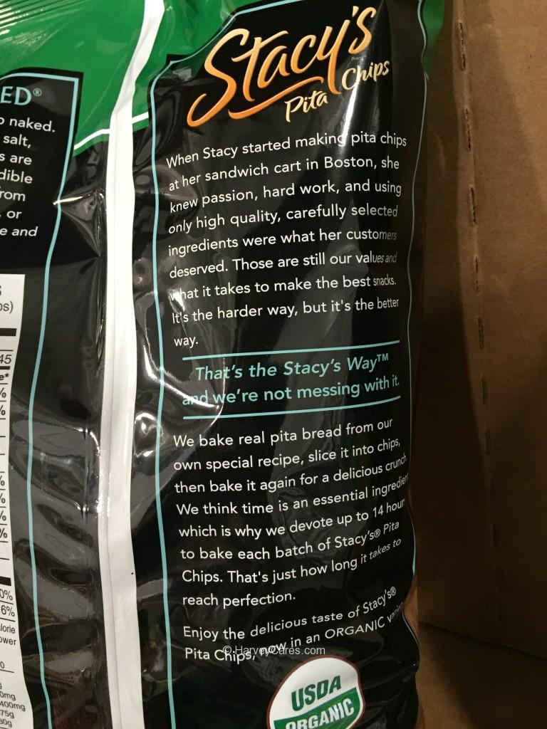 Stacy's Organic Pita Chips Packaging Details Back View About Stacy's Pita Chips