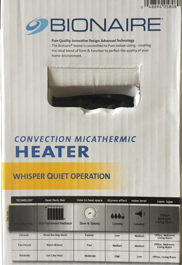 Bionaire MicaThermic Convection Heater Quiet