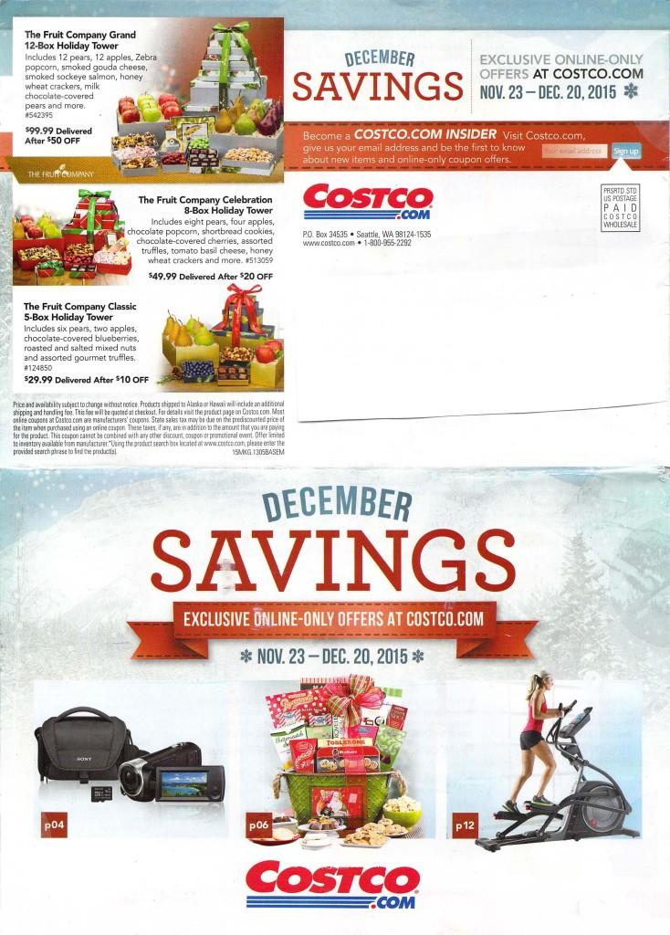 Costco December Savings Booklet