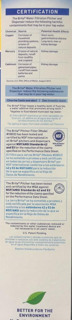 Brita Advanced Pitcher Replacement Filters Value Pack Side Panel Description