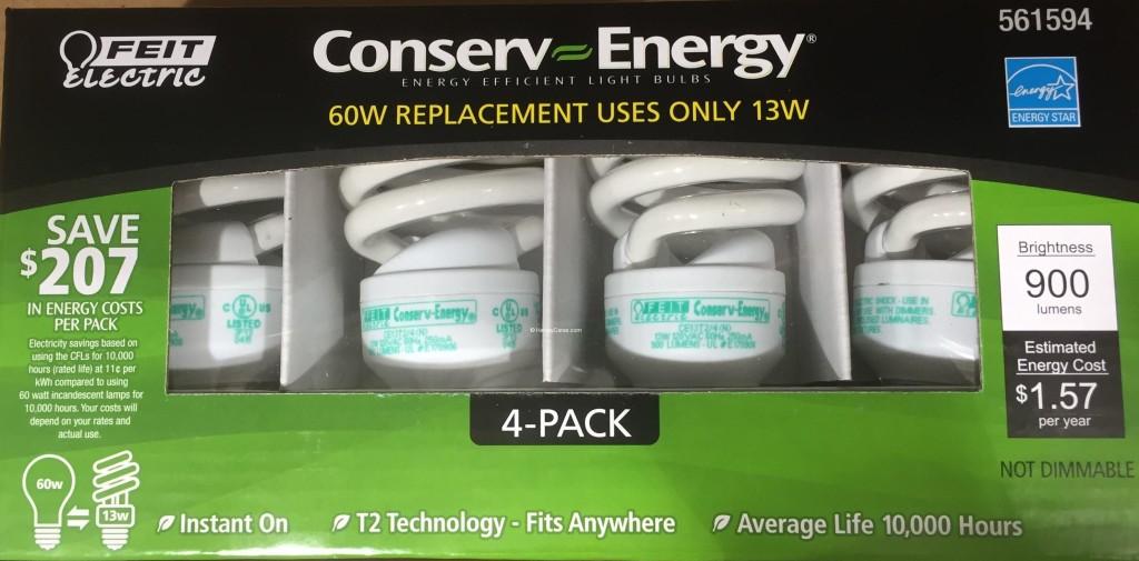FEIT Electric Energy Efficient 13W CFL Light Bulb