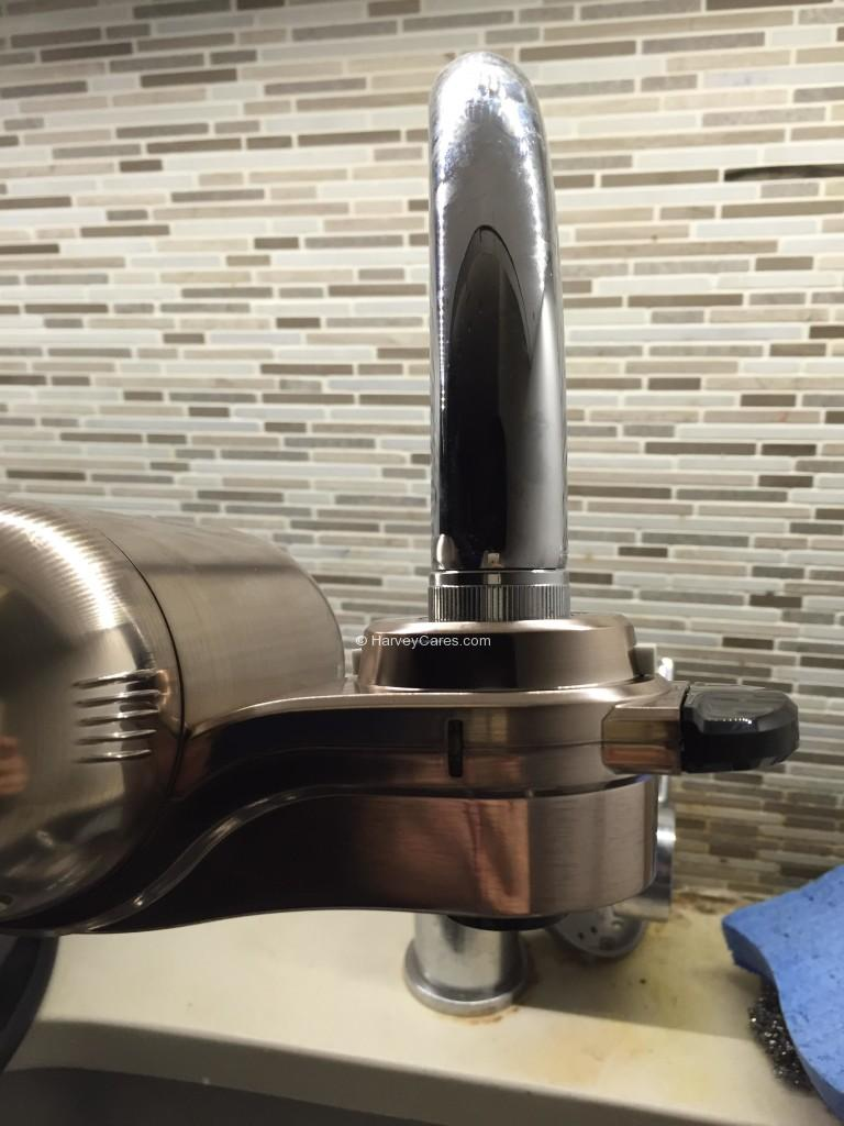 PUR MaxION Faucet Mount Water Filter Installation Faucet Details Installed