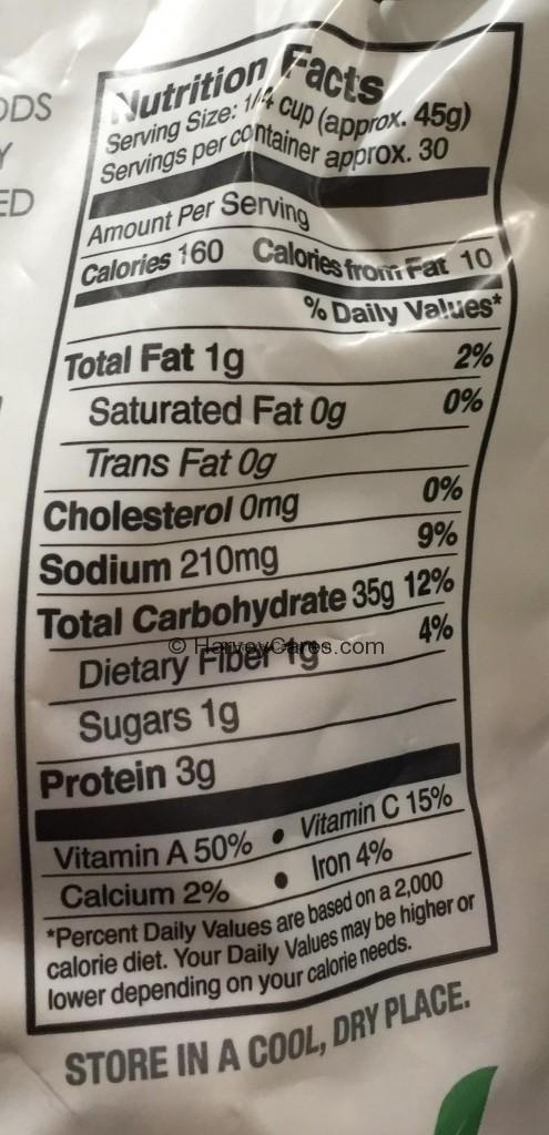 Manitou Butternut Squash Risotto Nutrition Facts