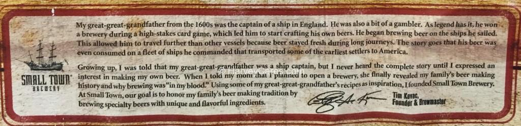 Not Your Father's Root Beer Side Panel Description