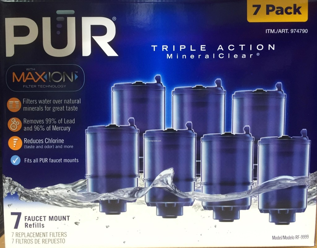 Home Water Filter >> PUR MaxION Faucet Mount Replacement Water Filters | Harvey @ Costco