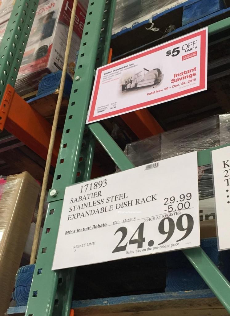 Sabatier Expandable Dish Rack Costco Price Panel