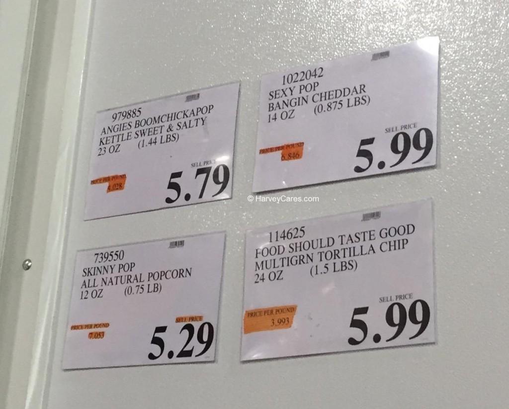 Sexy Pop Bangin' Cheddar Popcorn Costco Price Panel