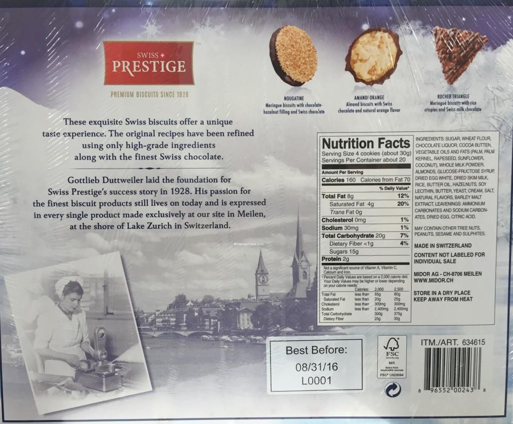 Swiss Prestige Premium Biscuits Back Panel Description