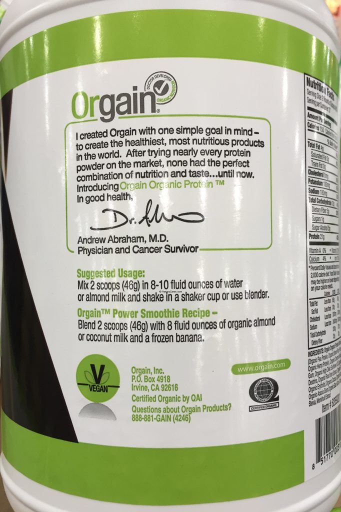 Orgain Plant Based Organic Protein Powder About Overview Usage Information Recipe General