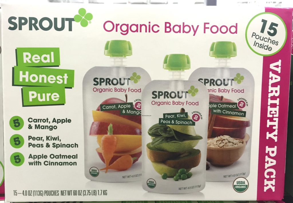 Sprout Organic Baby Food Variety Pack