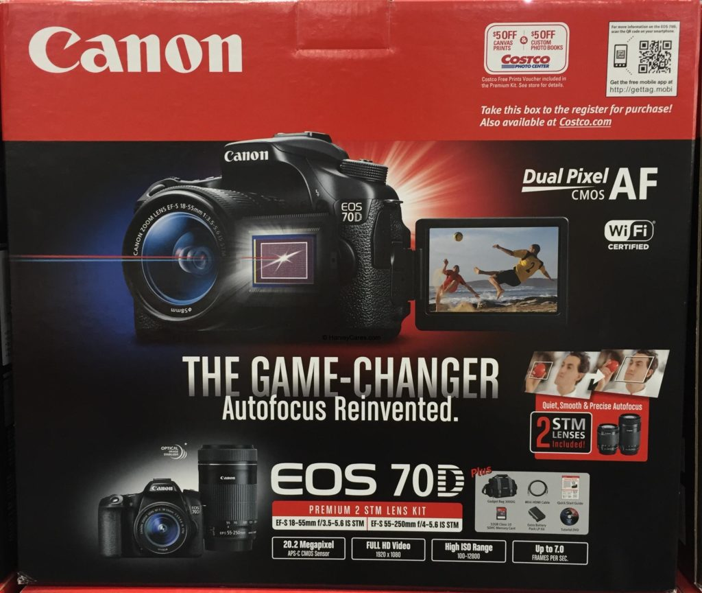 Canon EOS 70D Digital SLR Camera Bundle