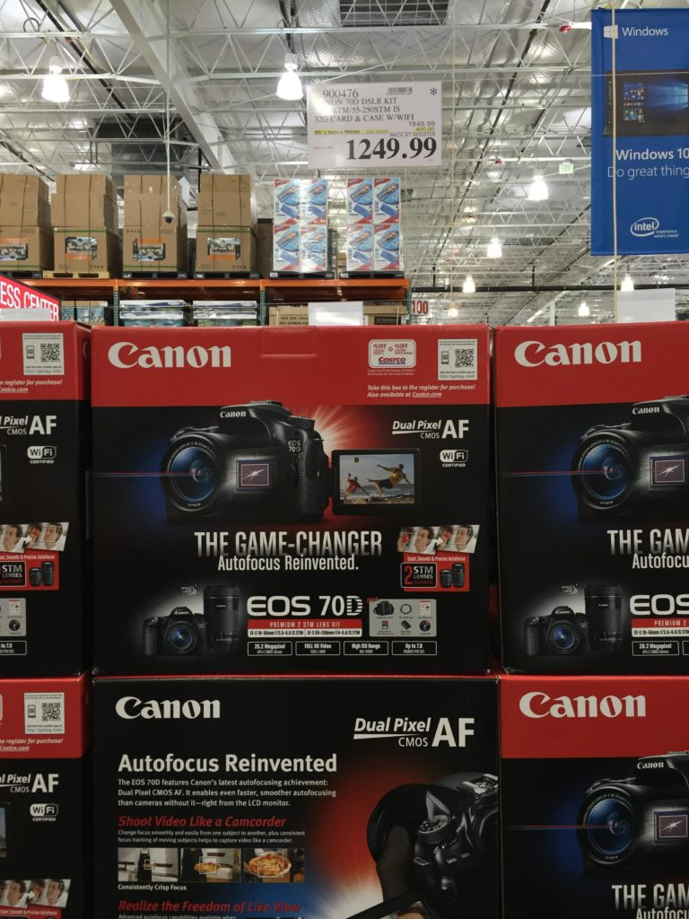 Canon EOS 70D Digital SLR Camera Bundle Costco Price Panel