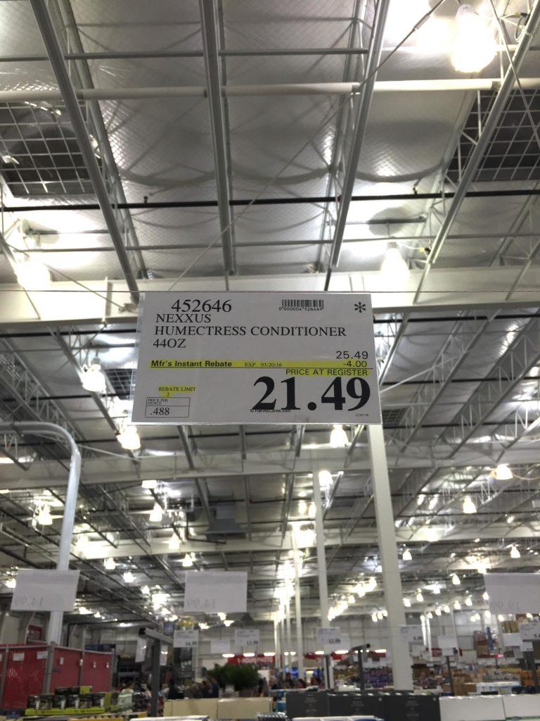 Nexxus Humectress Conditioner Costco Price Panel