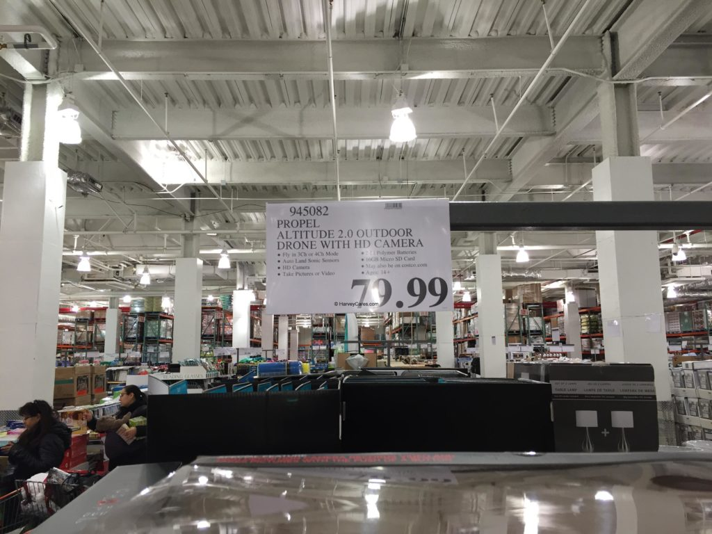 Propel 2.0 Outdoor Drone with HD Camera Costco Price Panel