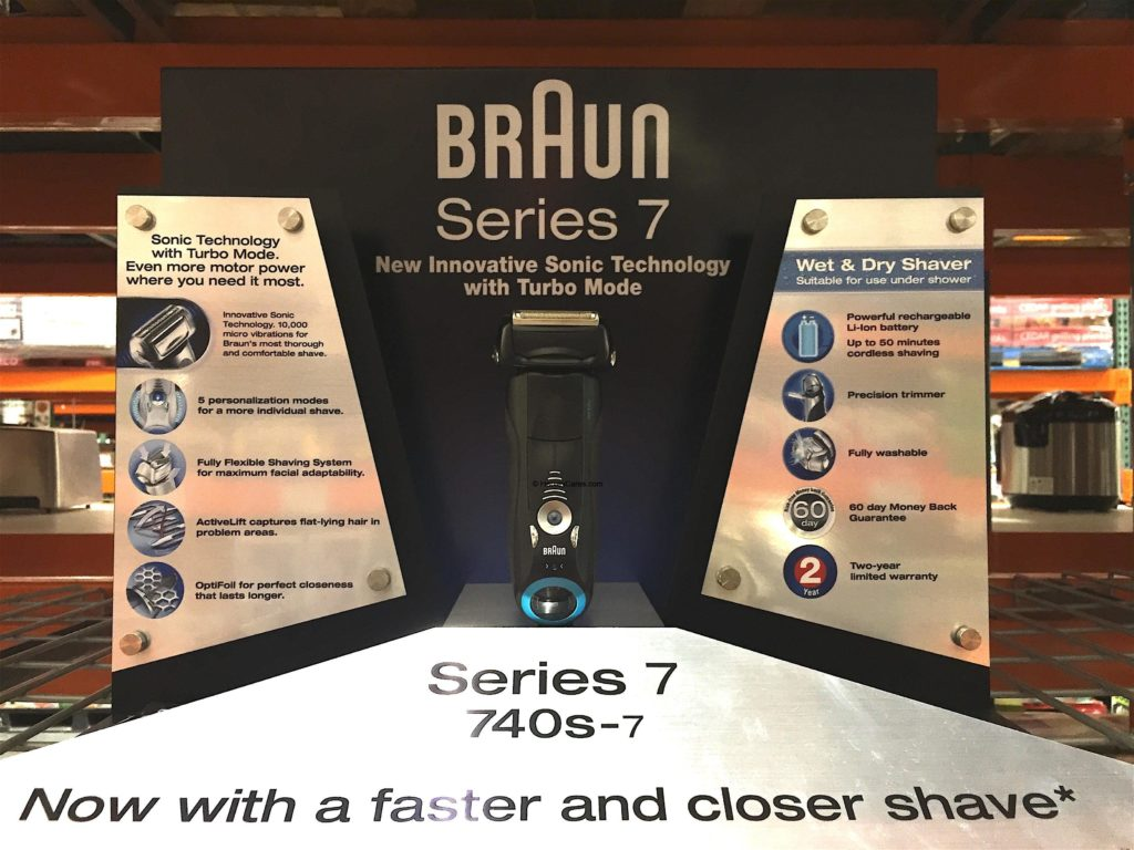 Braun Series 7 Sonic Wet Dry Electric Shaver Display Product Actual View