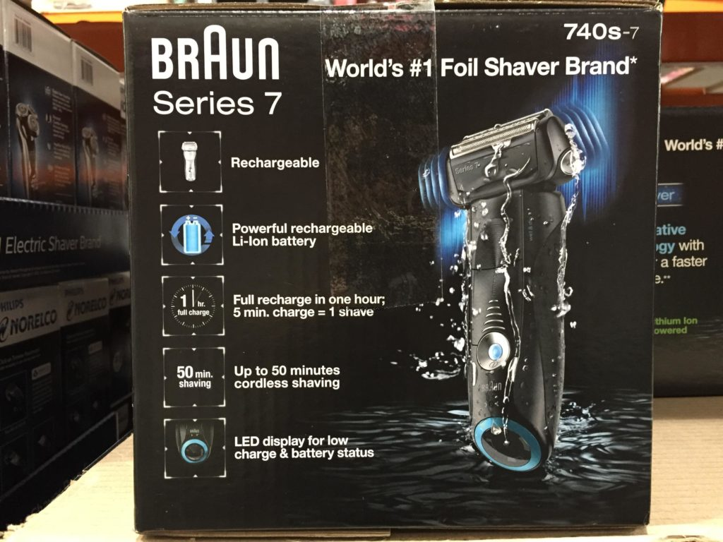 Braun Series 7 Sonic Wet Dry Electric Shaver Side Panel Product Details and Features
