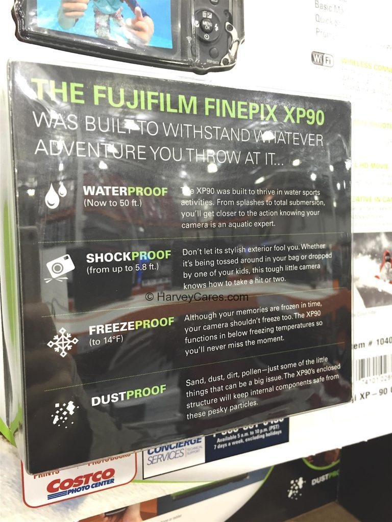 Fujifilm Finepix XP90 Waterproof Camera Functionalities Freeze Dust Life