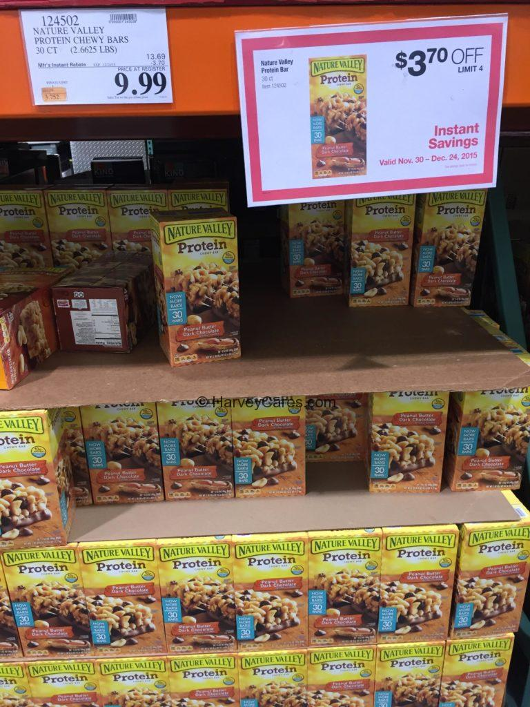 Nature Valley Chocolate Protein Chewy Bar Costco Price Panel