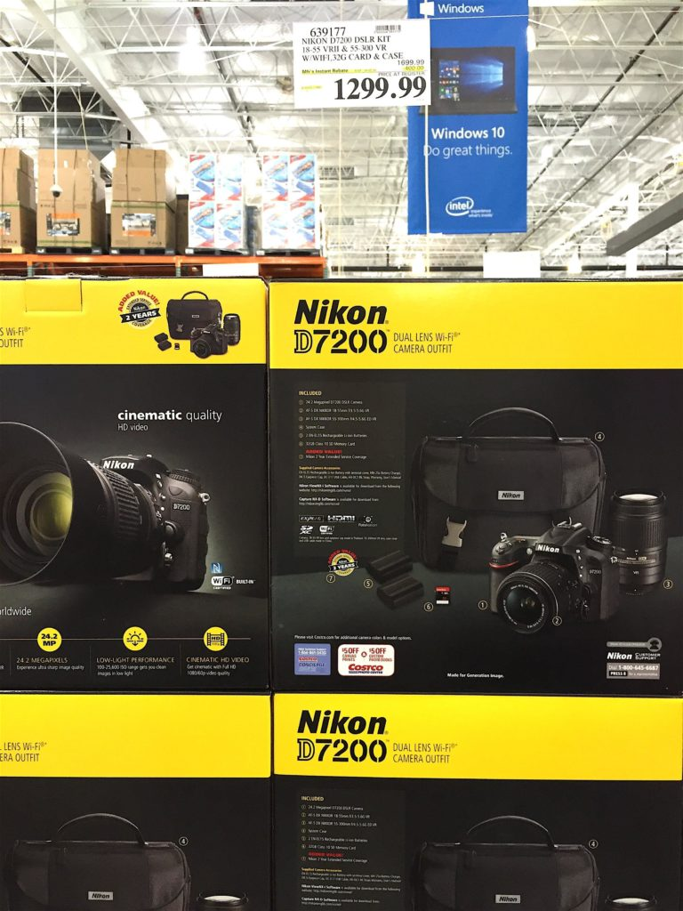 Nikon D7200 DSLR Camera Costco Price Panel