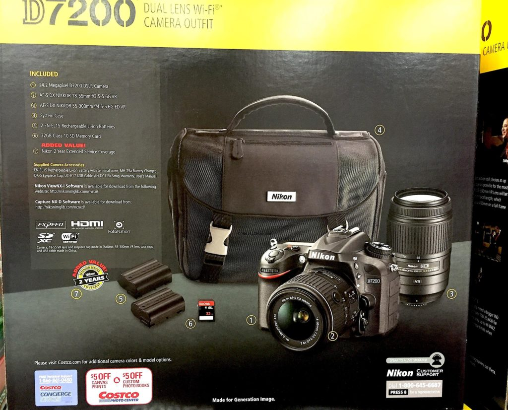 Nikon D7200 DSLR Camera What is Included Laid Out All Components and Parts