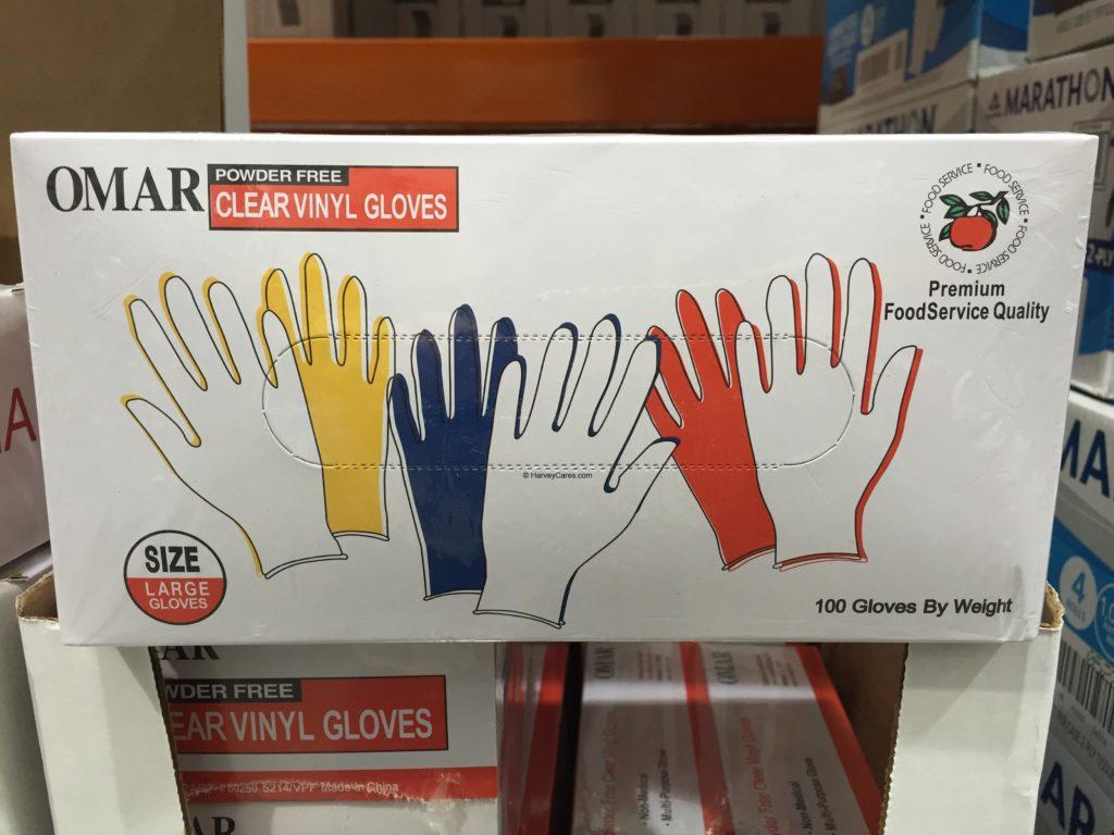 Omar Powder Free Clear Vinyl Gloves