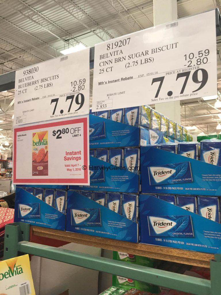 belVita Blueberry Breakfast Biscuit Cookies Costco Price Panel Discount