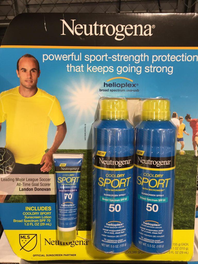 Neutrogena Cooldry Sport SPF 50 Sunscreen Set