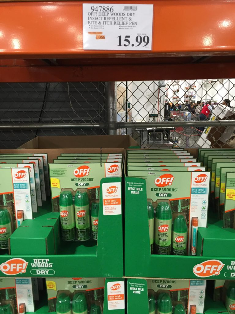 Off Deep Woods Dry Insect Repellent Costco Price Panel