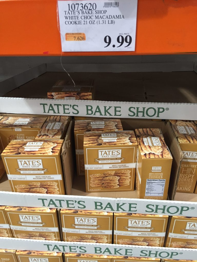 Tate's Crispy White Chocolate Macadamia Cookies Costco Price Panel