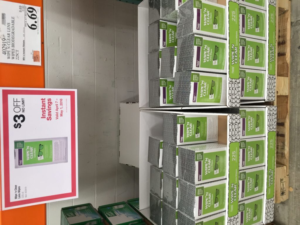 Wipe N Clear Lens Cleaning Wipes Costco Price Panel