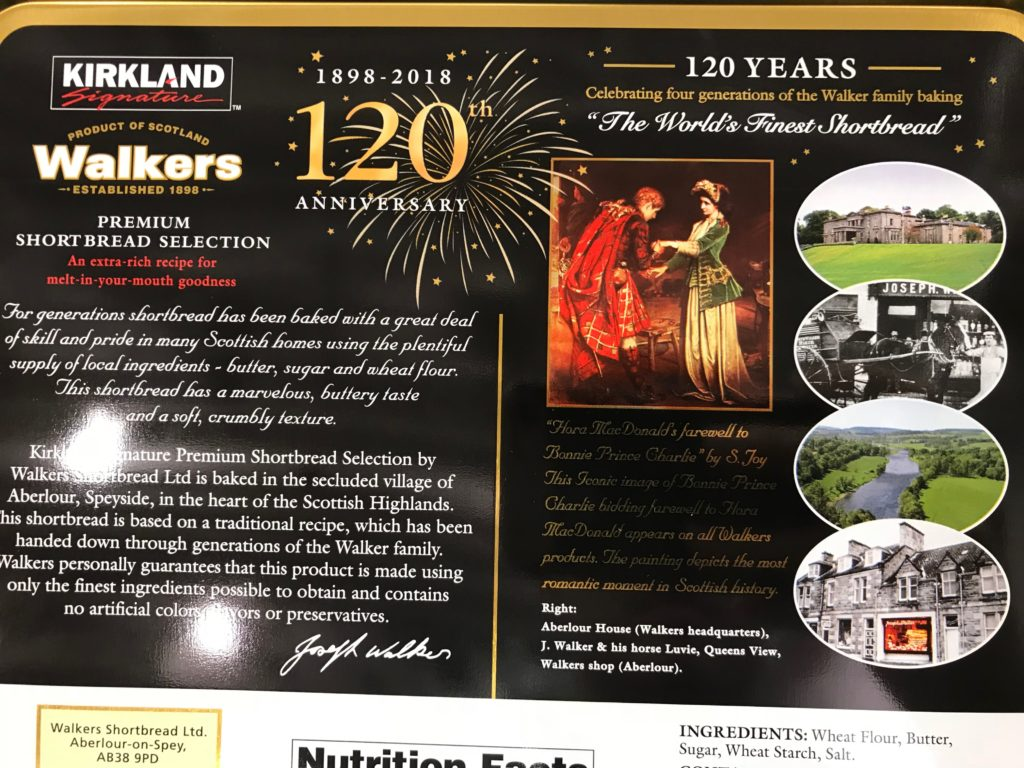 Kirkland Signature Walkers Shortbread Product History 120 Years Celebration