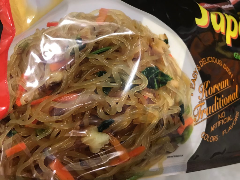 Japchae Korean Glass Noodles Actual View