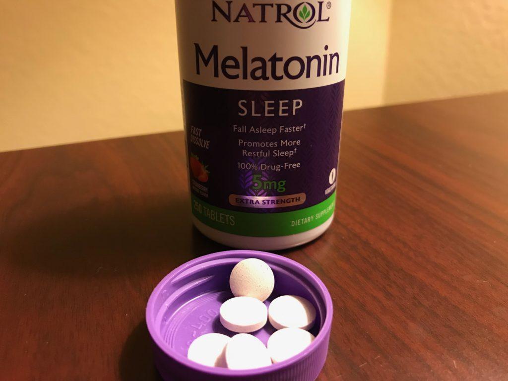 Natrol Melatonin for Sleep Tablets Actual View Opened