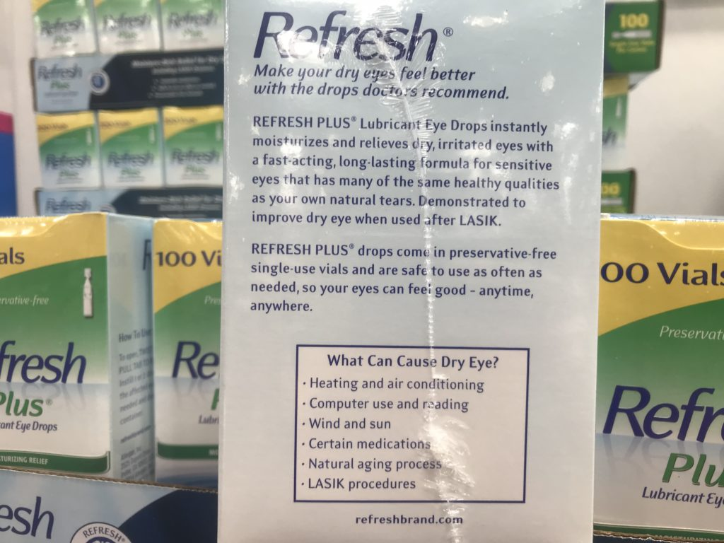 Refresh Plus Preservative Free Eye Drops What Causes Dry Eye