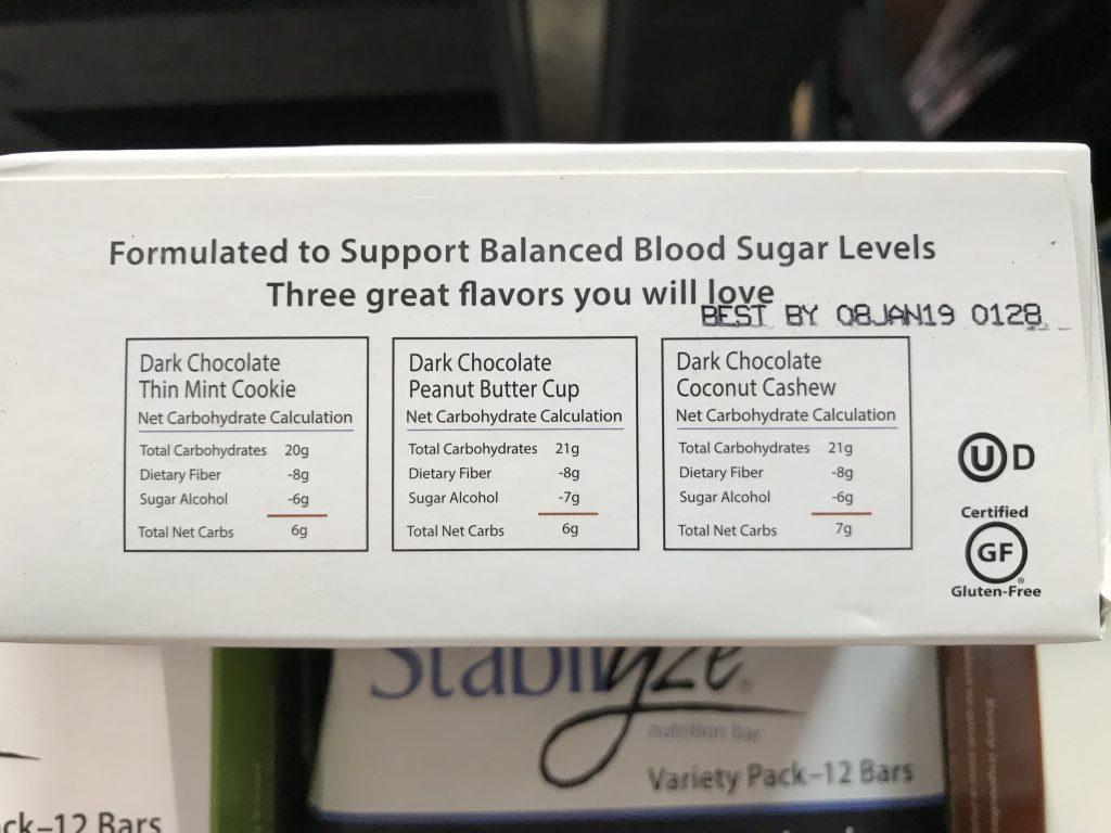 Stabilyze Low Glycemic Nutrition Bar Balance Blood Sugar Levels