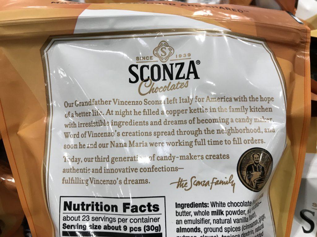 Sconza Pumpkin Spice Chocolate Almonds Product Description Background