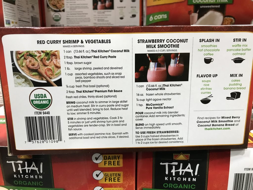 Thai Kitchen Organic Coconut Milk Costco 9440 Recipe